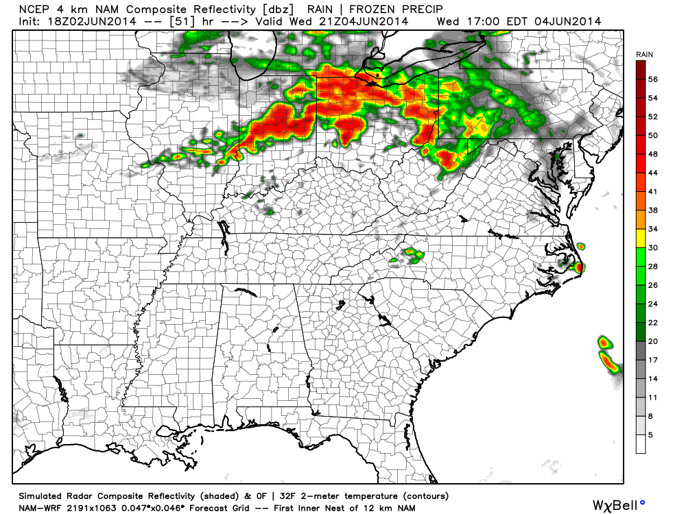 Storms will likely strengthen yet again Wednesday afternoon, especially across southern Indiana.