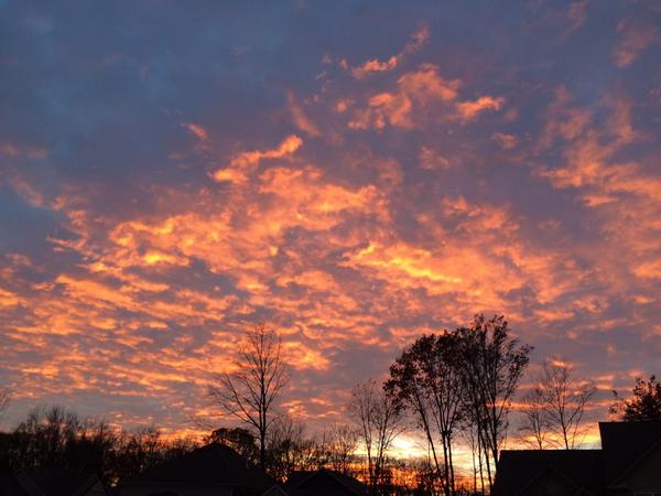 Kevin Jackson shared this awesome sunset from Zionsville.