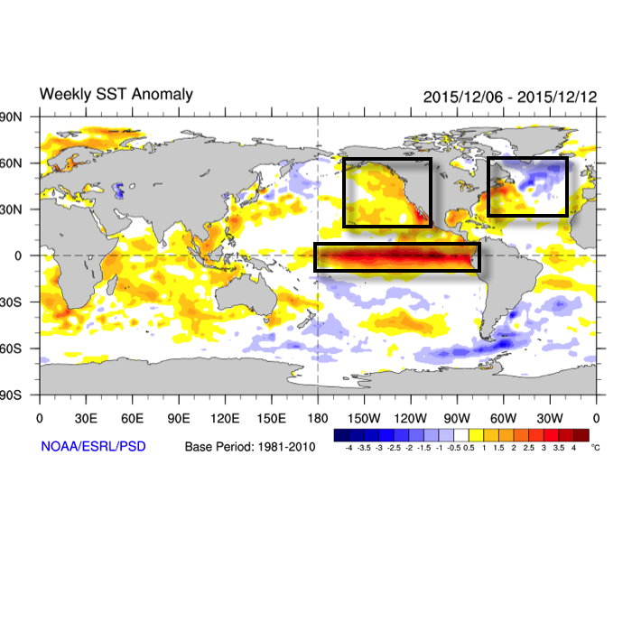 Current Sea Surface Temperature Anomalies