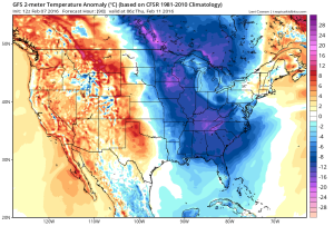 Temperature anomalies Wednesday. Source: Tropicaltidbits.com