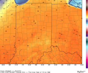 Highs today will reach the lower 70s.