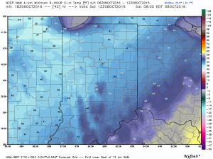 A chilly start is anticipated Saturday morning.